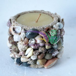 candle shell motif pot HD72093