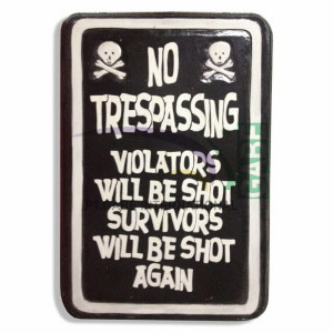 LUKISAN REPRO ANTIK NO TRESPASSING