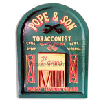 LUKISAN REPRO POPE AND SON TOBACCONIST