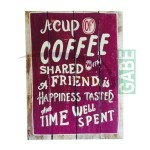 LUKISAN VINTAGE A CUP OF COFFEE