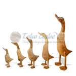 PATUNG BEBEK NATURAL SET OF 5