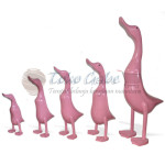 PATUNG BEBEK PINK SET OF 5